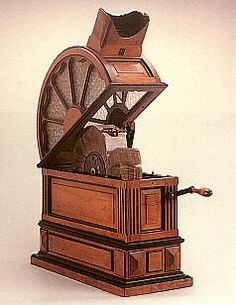 The mutoscope was a rival to Edison's kinetoscope that debuted in 1895. Created by the American Mutoscope and Biograph Company, the mutoscope featured photographic images which were rotated by the viewer with a crank to suggest movement. Its advantages over the kinetoscope were its better image quality as well as its lower manufacturing costs.