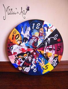 Anime Wall Clock Hand Painted by Matita's Art