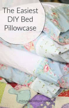 THE easiest DIY bed pillowcase - the roll-up or burrito method. Sewing Pillow Cases, Custom Pillow Cases, Sewing Pillows, Diy Pillows, Custom Pillows, Throw Pillows, Easy Sewing Projects, Sewing Projects For Beginners, Sewing Hacks