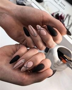 Newest and Hottest Matte Nail Art Designs Ideas … - Nail Design Ideas! - Newest and Hottest Matte Nail Art Designs Ideas … – Nail Design Ideas! Newest and Hottest Matte Nail Art Designs Ideas … Classy Nail Designs, Black Nail Designs, Nail Art Designs, Latest Nail Designs, Almond Acrylic Nails, Cute Acrylic Nails, Cute Nails, Almond Nail Art, Acrylic Nails For Summer Coffin