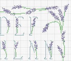 Alfabeto Lavanda 2 - Cross stitch