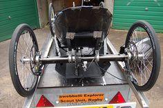 How to build a pedal car - Bristol 24 hour pedal car race Custom Bikes, Custom Cars, Vintage Car Bedroom, Bicycle Pictures, Jaguar Sport, New Luxury Cars, Solar Car, Drift Trike, Go Car