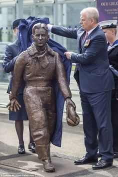 The Duke of York traveled to Edinburgh Airport to unveil a new statue of the Royal Navy's most decorated pilot, Captain Eric 'Winkle' Brown. Duchess Of York, Duke Of York, Princess Beatrice, Princess Eugenie, Prince Andrew, Prince Philip, British Monarchy History, Photos Of Prince, Hm The Queen