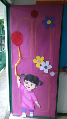 Monsters inc door decoration
