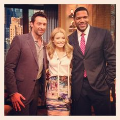 Actor Hugh Jackman stopped by to chat about his new film Les Miserables on #KellyandMichael
