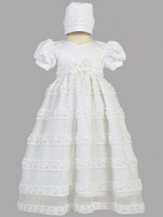 Jasmine Embroidered Chiffon Baptismal Gown