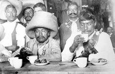 Zapatista Officers Enjoy a Meal at Sanborns in Mexico City