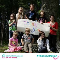 """@easyuk Thank you to all our wonderful supporters who raise funds for us through easyfundraising! #ThanksAMillion"" #Fundraising #Charity #Giving"