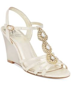 Adrianna Papell Kristen Evening Wedge Sandals | macys.com