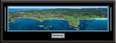 Pebble Beach Golf Course Skyline Panoramic Comes With 1 1/2 Inch Black Leather Frame-D/Matted W/Small Plaque Art Print - Large Framed Picture - Awesome and Beautiful! This Is a Must for Any Home or Office Decor! Art and More, Davenport, IA http://www.amazon.com/dp/B00KCJH138/ref=cm_sw_r_pi_dp_XOsEub08SYQQ3