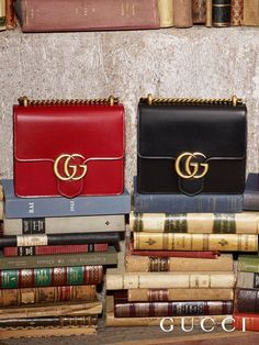 5c8fb14a2 Bags from the Gucci Pre-Fall 2016 . The mini GG Marmont with a sliding