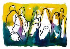 watercolour: Montserrat by   Francesc Palomas - ®LeMelonRouge