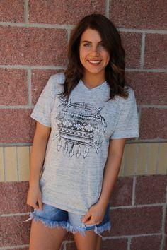 Aztec shield marble t-shirt