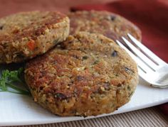 White Bean Patties! This recipe is more delicate than the average bean burger recipe, moist on the inside and crunchy on the outside. It makes a nice quick easy entrée, and tastes great with a sauce or gravy.