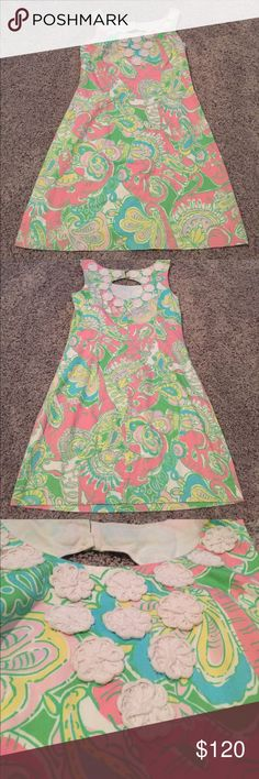 multi chin chin lilly pulitzer dress SZ 2 perfect derby dress!!! worn to derby one time and that is it and then dry cleaned after. in great condition! light weight and comfortable Lilly Pulitzer Dresses Mini
