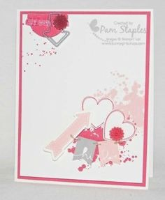 SU Hearts a Flutter. Sale-A-Bration Banner Blast stamps. Gorgeous Grunge