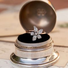 We recently listed this diamond flower ring on our Etsy shop.  Wouldn't it make a perfect holiday gift? #showmeyourrings #ringsofinstagram #rotd #ringoftheday #etsygifts #etsystore