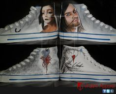 Virulent Apparel - The Used, Bert McCracken, Converse. Custom Painted Shoes! I WANT THESE!!!!!