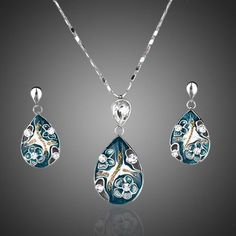 Cheap jewelry sets, Buy Quality jewelry necklace sets directly from China necklace pendant set Suppliers: AZORA White Gold Color Lady's Elegant Transparent Crystal Pendant Earring and Pendant Necklace Jewelry Set Cute Jewelry, Jewelry Sets, Women Jewelry, Beautiful Gifts, Beautiful Outfits, Fashion Accessories, Fashion Jewelry, Pendant Earrings, Necklace Set