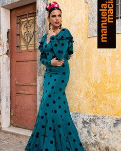 Colección 2019 Manuela Macías Moda Flamenca Flamenco Costume, Frocks, Designer Dresses, Polka Dots, Victoria, Gowns, Costumes, Formal Dresses, Outfits