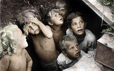 Children during the Battle of Stalingrad.