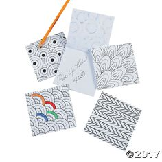 Featuring a variety of intricate designs and fun patterns, the covers of these notepads are waiting to be brought to life with your own creative touch. A ...