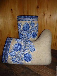 Russian Valenki Gzhel Handmade Traditional Winter Boots for Women Wool | eBay