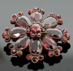 Antique Victorian Garnet Brooch by SITFineJewelry on Etsy, $575.00