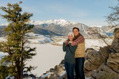 Sapphire Point Overlook Winter Colorado Proposal Mountain View