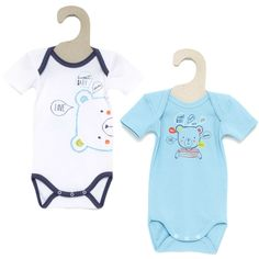 12€ Pack de 2 bodys 'Absorba' azul/blanco Bebé niña