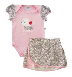 Body Bebê Menina Verão Lene Baby Rosa