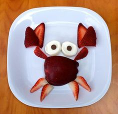 Cute strawberry and apple crab