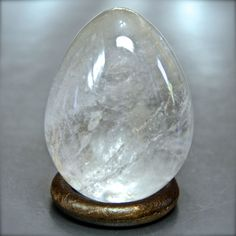 Minerali, cristallo di rocca, quarzo ialino, uovo egg, Madagascar 57mm