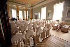 The ballroom before a party - Wedderburn Castle