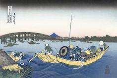 御厩川岸より両国橋夕陽見|葛飾北斎|富嶽三十六景|浮世絵のアダチ版画オンラインストア
