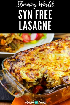 Syn Free Lasagne | Slimming World Recipes - pinchofnom.com