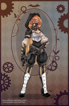 New Steampunk DC Superheroine Designs By NoFlutter