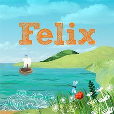 Josien van Brussel - Birth announcement for Felix