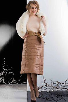 Теплая юбка длины миди Лияна-6А2749 - МОДА-НСК - интернет магазин женской одежды из Новосибирска