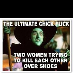 Rather fight over shoes then men any day! Just sayin...