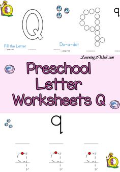 This preschool letter worksheets q printable for kids has do a dots, tracing pages and more. Preschool Letter Worksheets Q |preschool letter worksheets