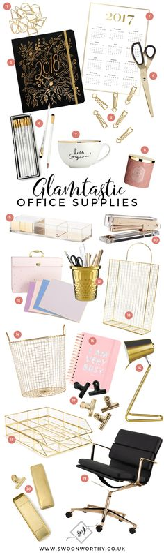 33 Best Gold Office Supplies Images Desk Gold Office