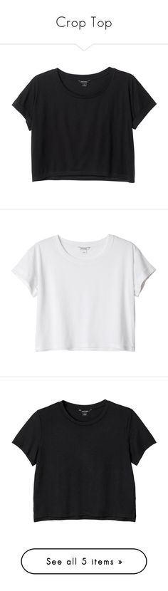 """Crop Top"" by laurettered ❤ liked on Polyvore featuring tops, t-shirts, shirts, crop tops, black magic, roll t shirt, long-sleeve crop tops, rolled up t shirt, sleeve t shirt and shirt crop top"