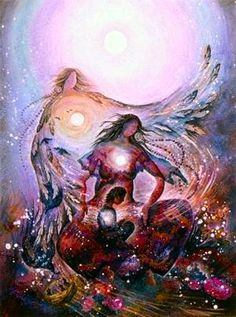 """Healing the Inner Child"" http://www.milliande.com/images/willow-arlenea-visionary-artist-2.jpg  ~Goddess Mother Of Love and Light, Lend Unto Me Thy Mystical Sight, Within the Twilight Let Me See, All The Magick Dancing Free<3"