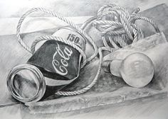a coke can and. Girl Drawings, Pencil Drawings, Still Life Drawing, Coke, Projects, Painting, Inspiration, Log Projects, Biblical Inspiration