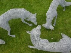 Three foxes, by Chris Moss (www.chrismossart.co.uk). She captures the movement in animals perfectly.