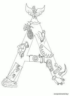 Kolorowanka literka A :)A jak :- akwarium- auto- ananas- anioł- agrafka- arbuz - aparat- autobus- aligator-armata                          Życzę Miłej zabawy ! ! !         :) Abc Centers, Polish Language, Donia, Teaching Kids, Activities For Kids, Diy And Crafts, Alphabet, Parenting, Education