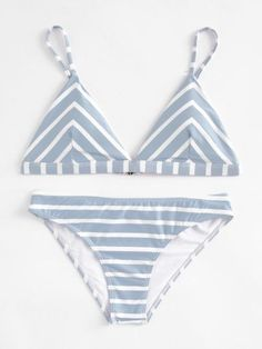 To find out about the Striped Triangle Bikini Set at SHEIN, part of our latest Bikini Sets ready to shop online today! Bikini Sets, The Bikini, Bikini Swimwear, Sexy Bikini, Bandeau Bikini, Bikini Girls, Women Bikini, Bikini Beach, Summer Bathing Suits