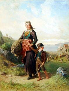 Шведский художник Bengt Nordenberg (1822-1902)