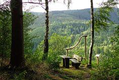 Ausblick Mandolinenhütten auf dem Steinway-Trail